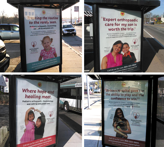 Shriners Hospital Bus Shelters