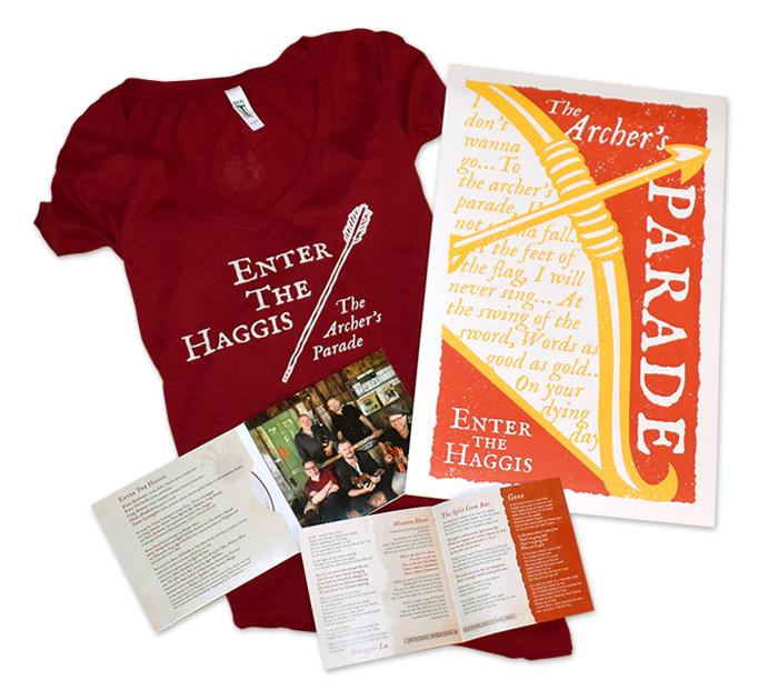 Enter the Haggis - The Archer's Parade designs