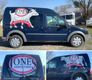 Vinyl Graphics for Jones Family Farm